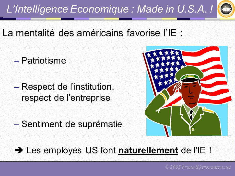 L'Intelligence Economique : Made in U.S.A. !
