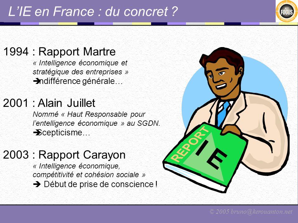 L'IE en France : du concret