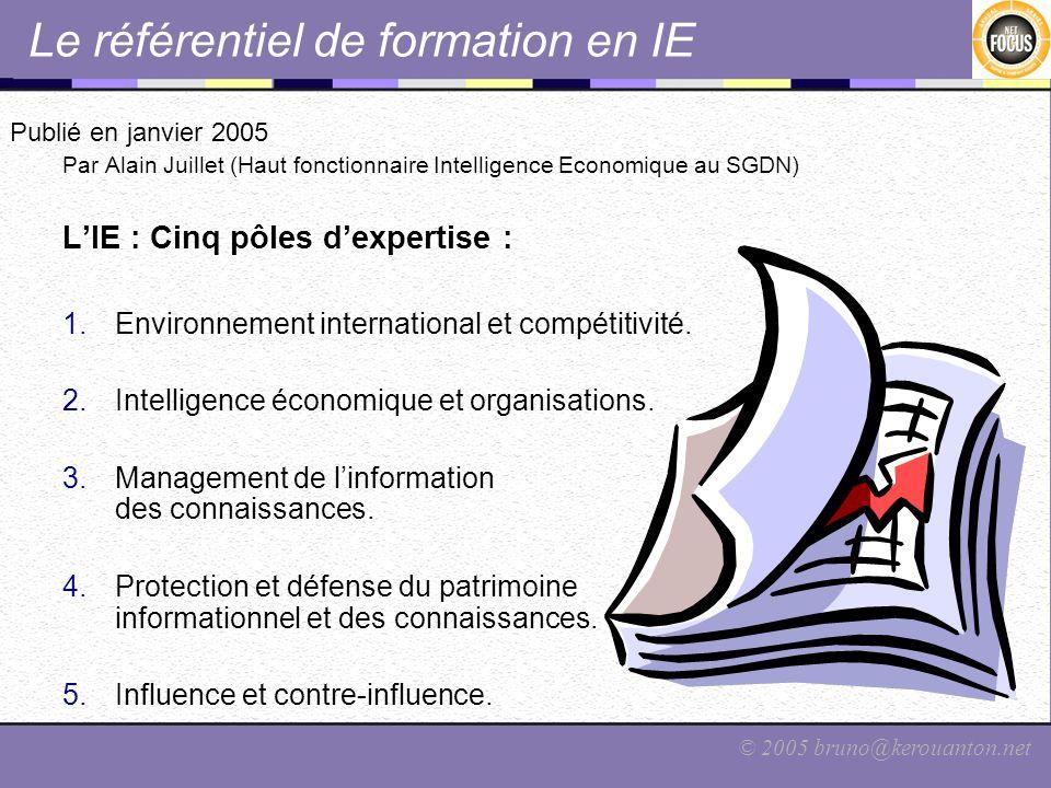 Le référentiel de formation en IE
