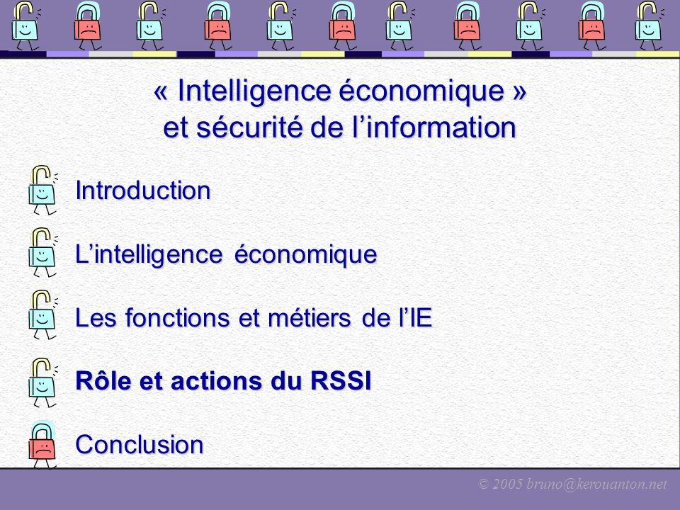 « Intelligence économique » et sécurité de l'information