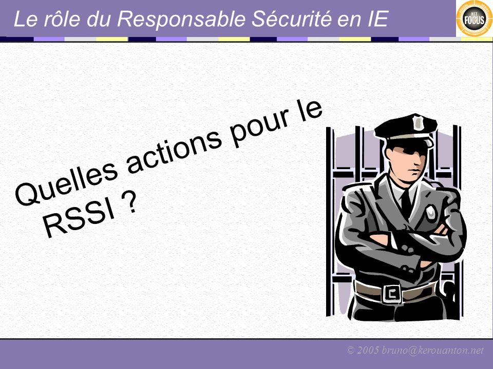 Le rôle du Responsable Sécurité en IE