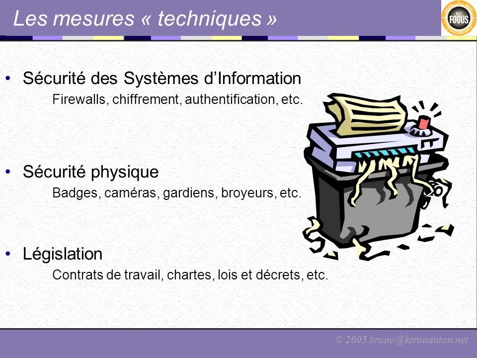Les mesures « techniques »