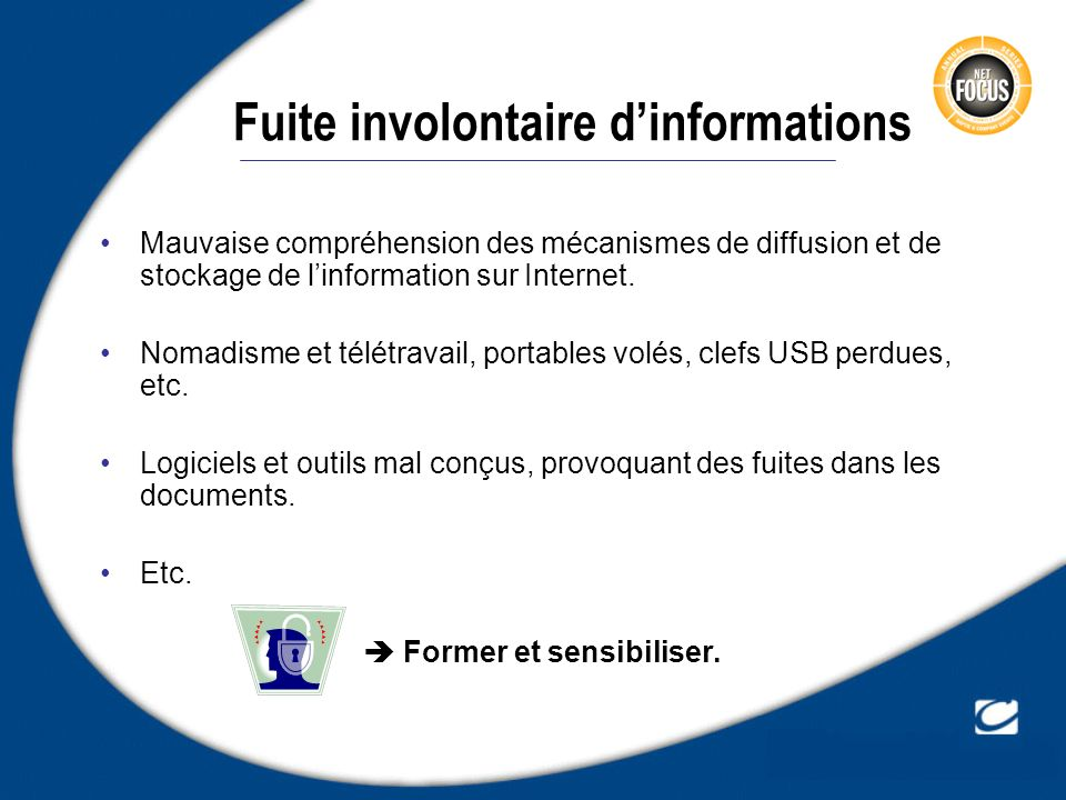 Fuite involontaire d'informations