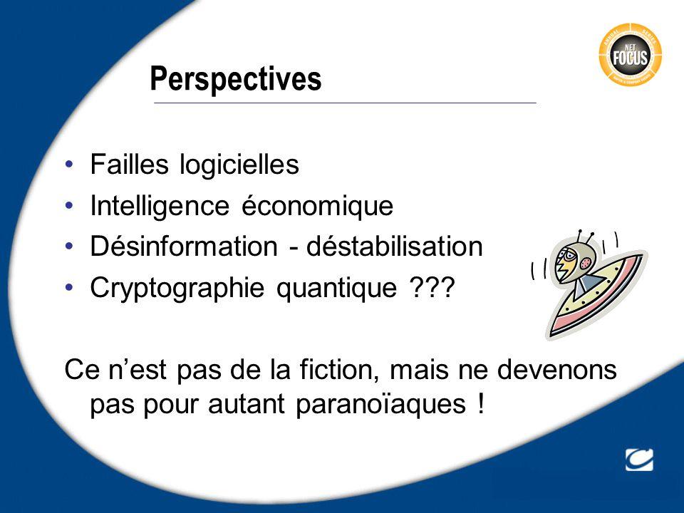 Perspectives Failles logicielles Intelligence économique