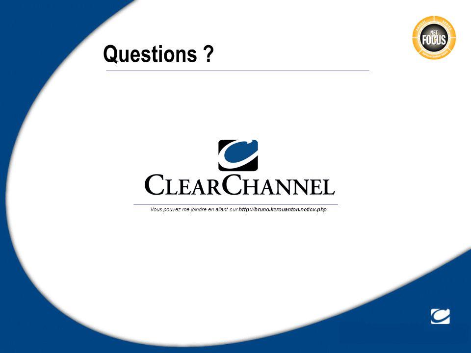Questions Vous pouvez me joindre en allant sur http://bruno.kerouanton.net/cv.php