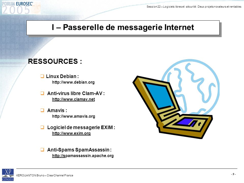 I – Passerelle de messagerie Internet