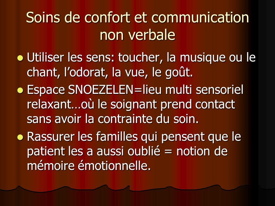 Soins de confort et communication non verbale