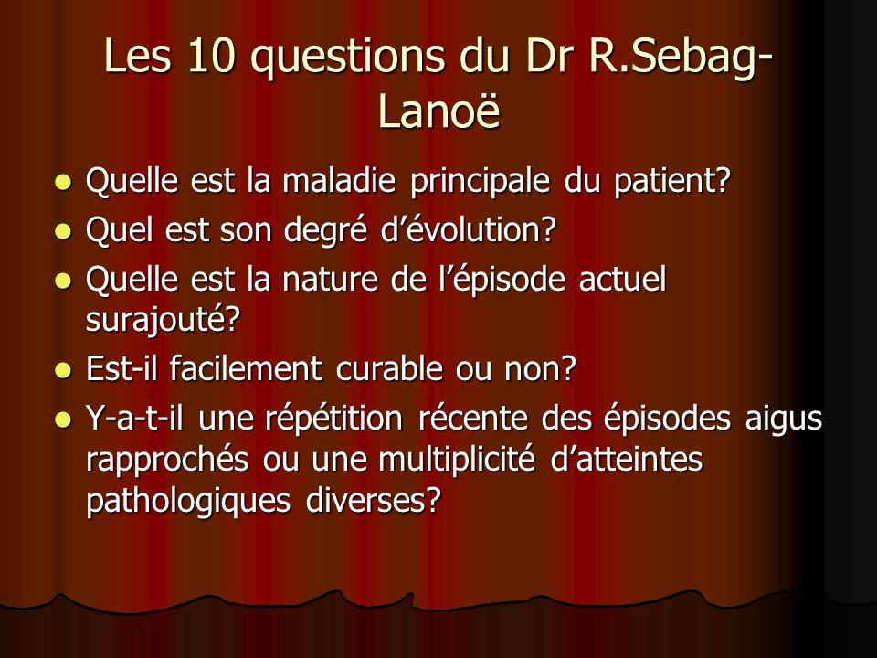 Les 10 questions du Dr R.Sebag-Lanoë