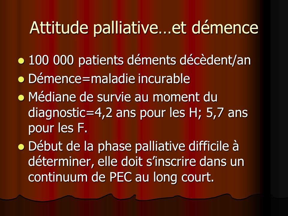 Attitude palliative…et démence
