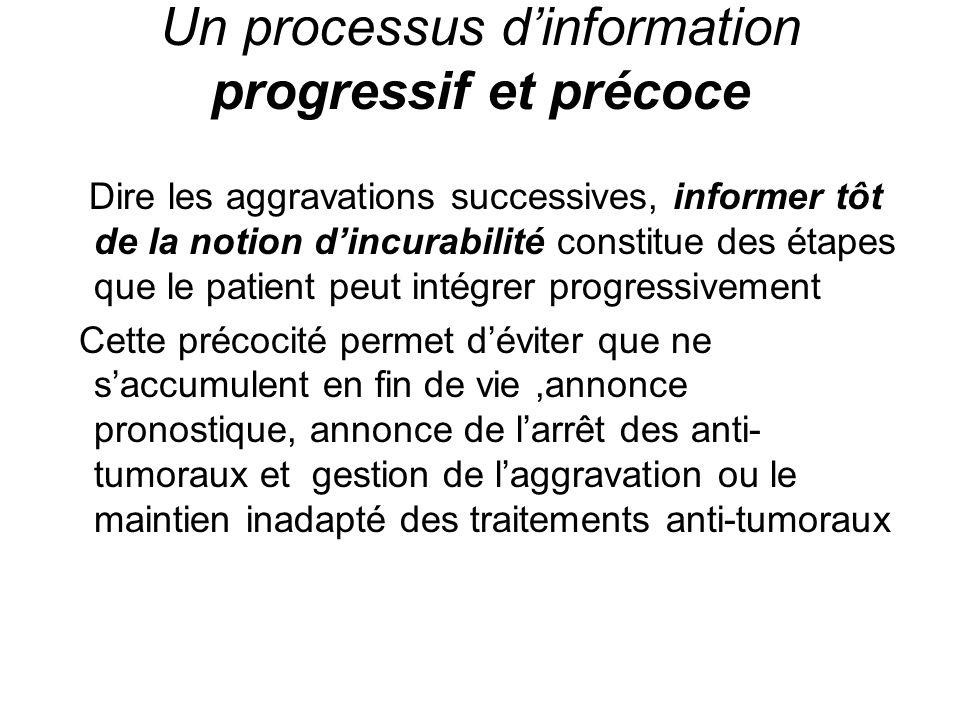 Un processus d'information progressif et précoce