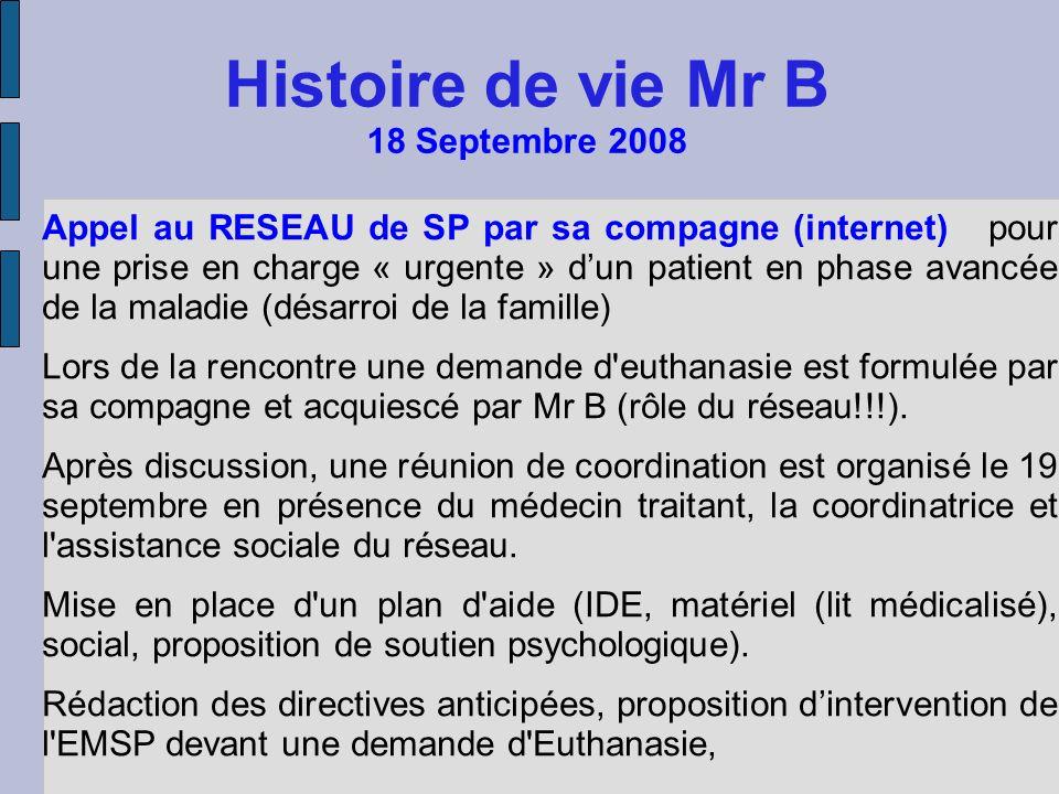 Histoire de vie Mr B 18 Septembre 2008
