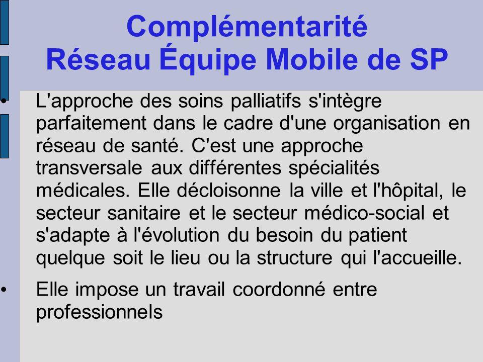 Complémentarité Réseau Équipe Mobile de SP