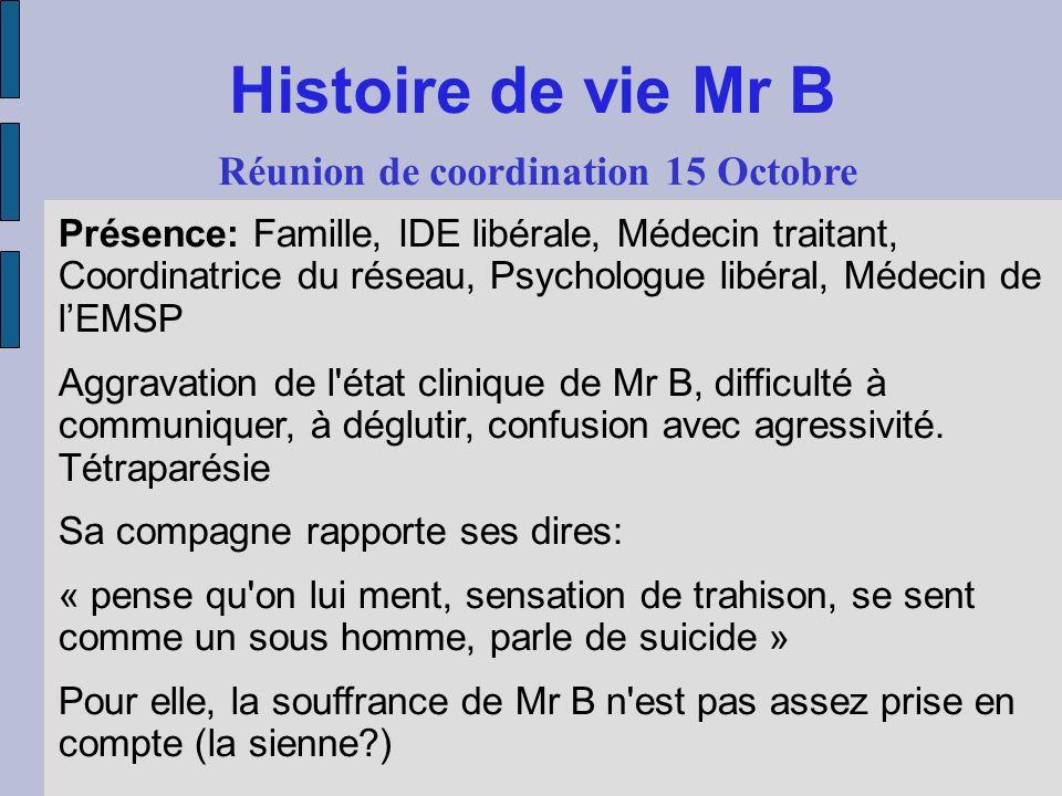 Réunion de coordination 15 Octobre