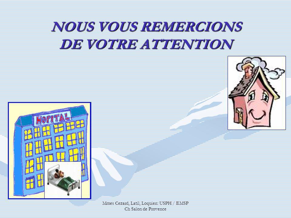 NOUS VOUS REMERCIONS DE VOTRE ATTENTION