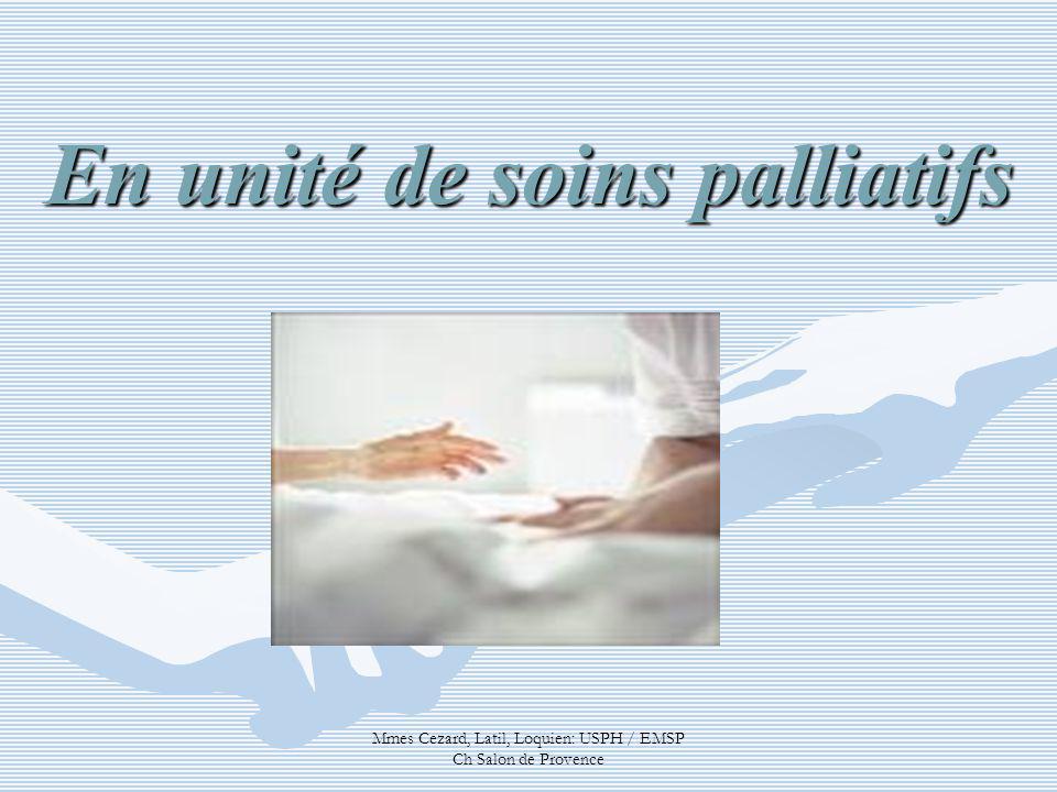 En unité de soins palliatifs