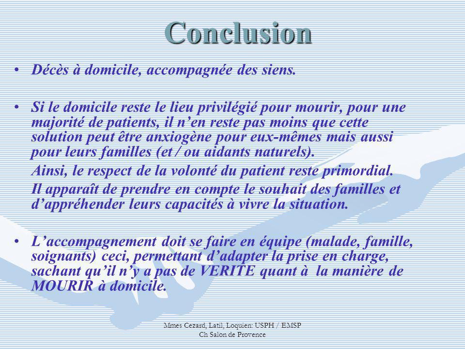 Mmes Cezard, Latil, Loquien: USPH / EMSP Ch Salon de Provence