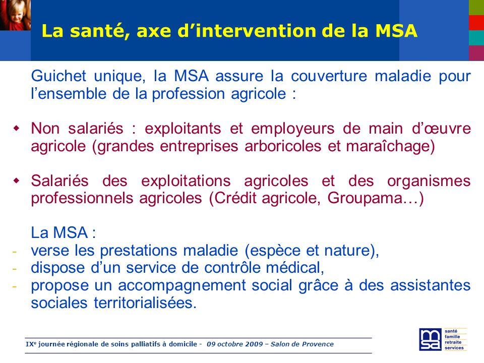 Soins palliatifs à domicile : l'accompagnement de la MSA