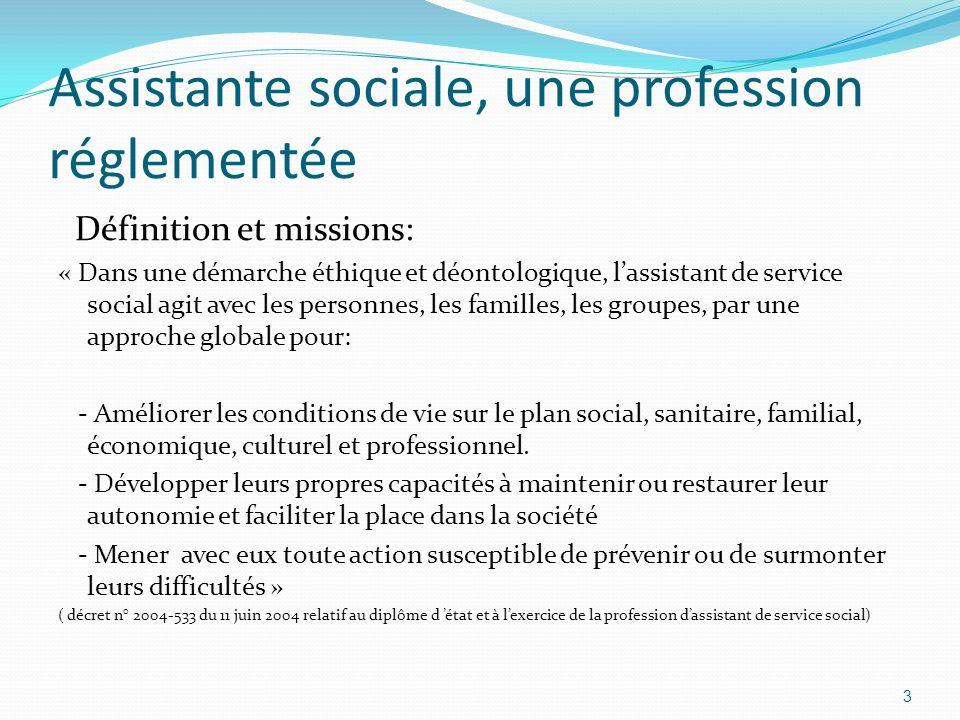 Assistante sociale, une profession réglementée