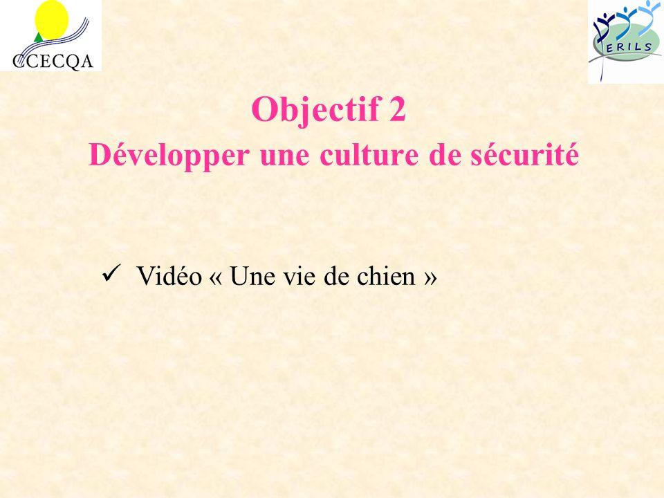 Objectif 2 Développer une culture de sécurité