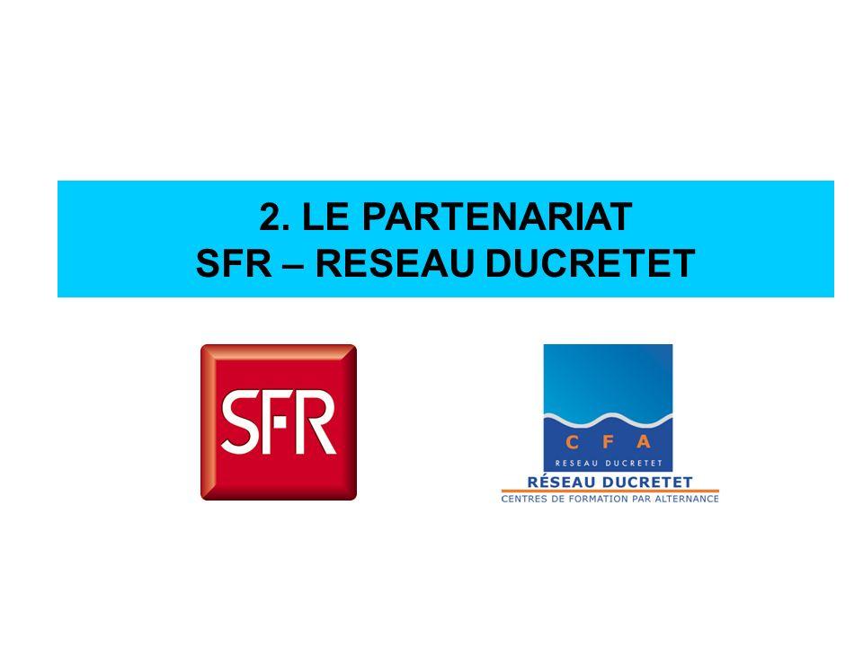 2. LE PARTENARIAT SFR – RESEAU DUCRETET