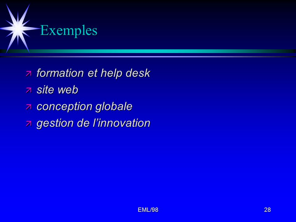 Exemples formation et help desk site web conception globale