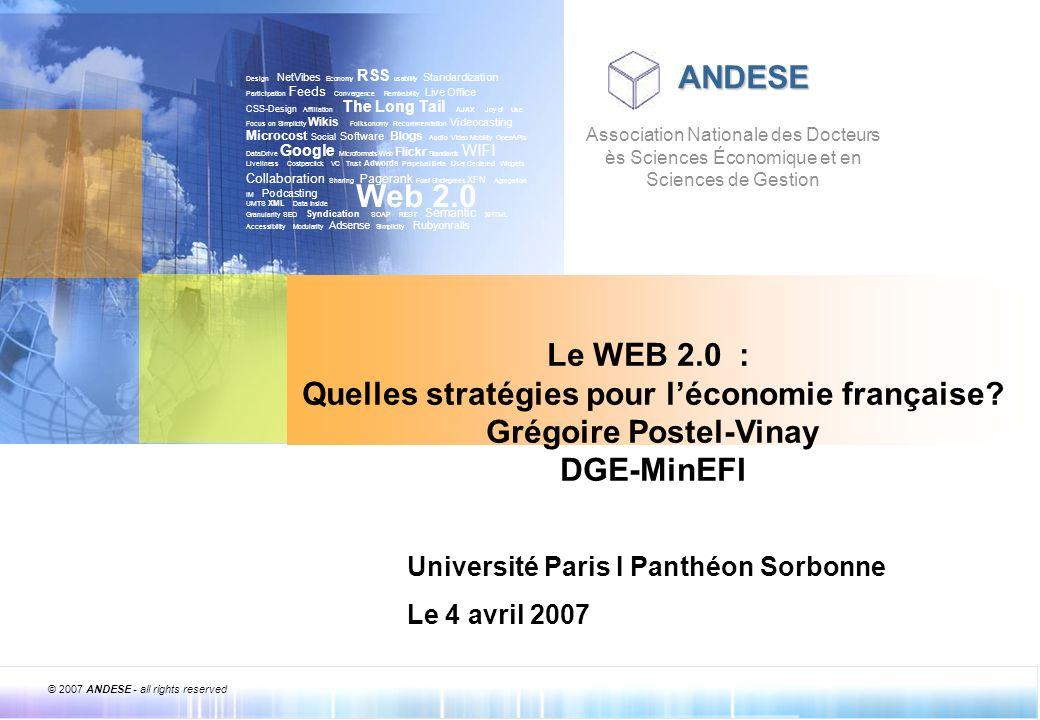 Quelles stratégies pour l'économie française Grégoire Postel-Vinay