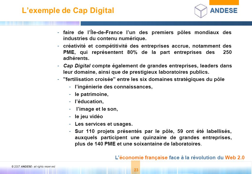 L'exemple de Cap Digital
