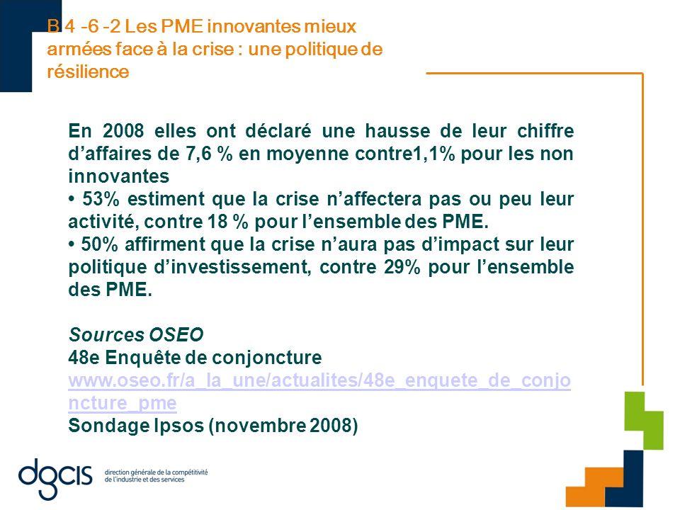 B 4 -6 -2 Les PME innovantes mieux armées face à la crise : une politique de résilience