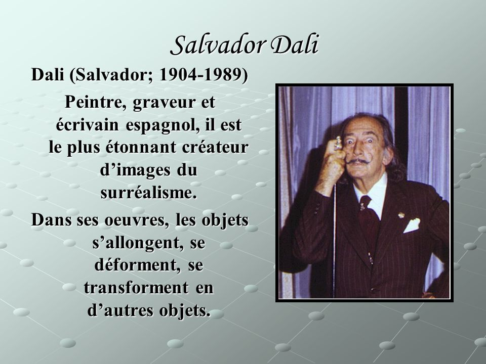 Salvador Dali Dali (Salvador; 1904-1989)