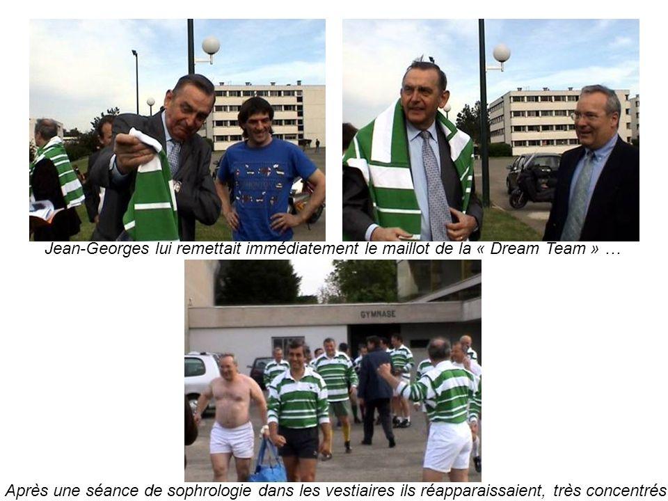 Jean-Georges lui remettait immédiatement le maillot de la « Dream Team » …