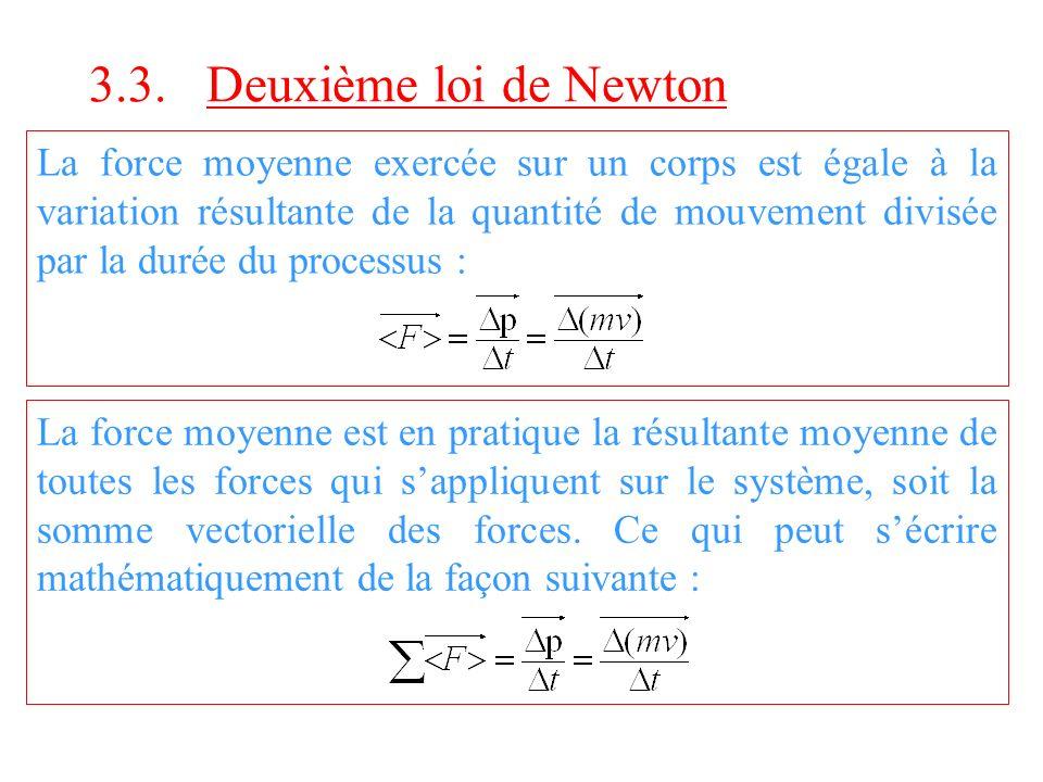 3.3. Deuxième loi de Newton
