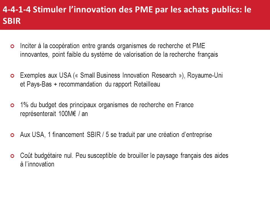 4-4-1-4 Stimuler l'innovation des PME par les achats publics: le SBIR