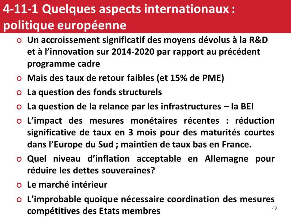4-11-1 Quelques aspects internationaux : politique européenne