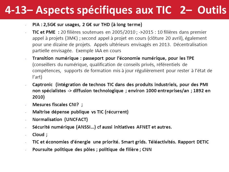 4-13– Aspects spécifiques aux TIC 2– Outils