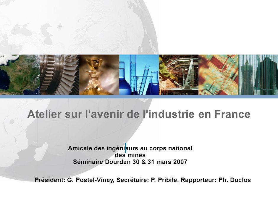 Atelier sur l'avenir de l industrie en France