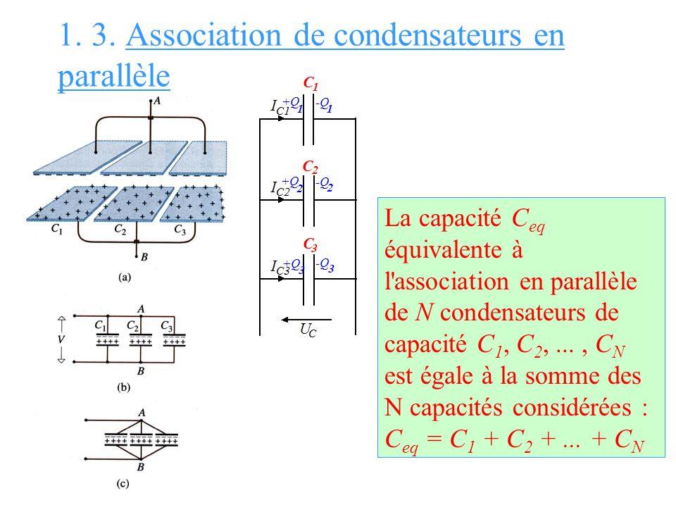 1. 3. Association de condensateurs en parallèle