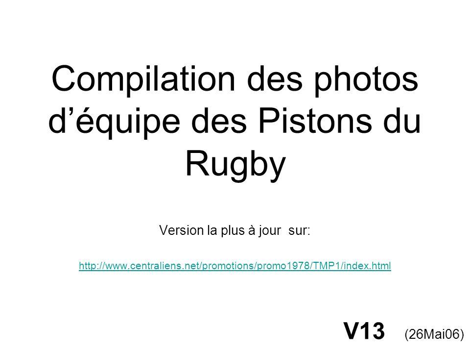 Compilation des photos d'équipe des Pistons du Rugby
