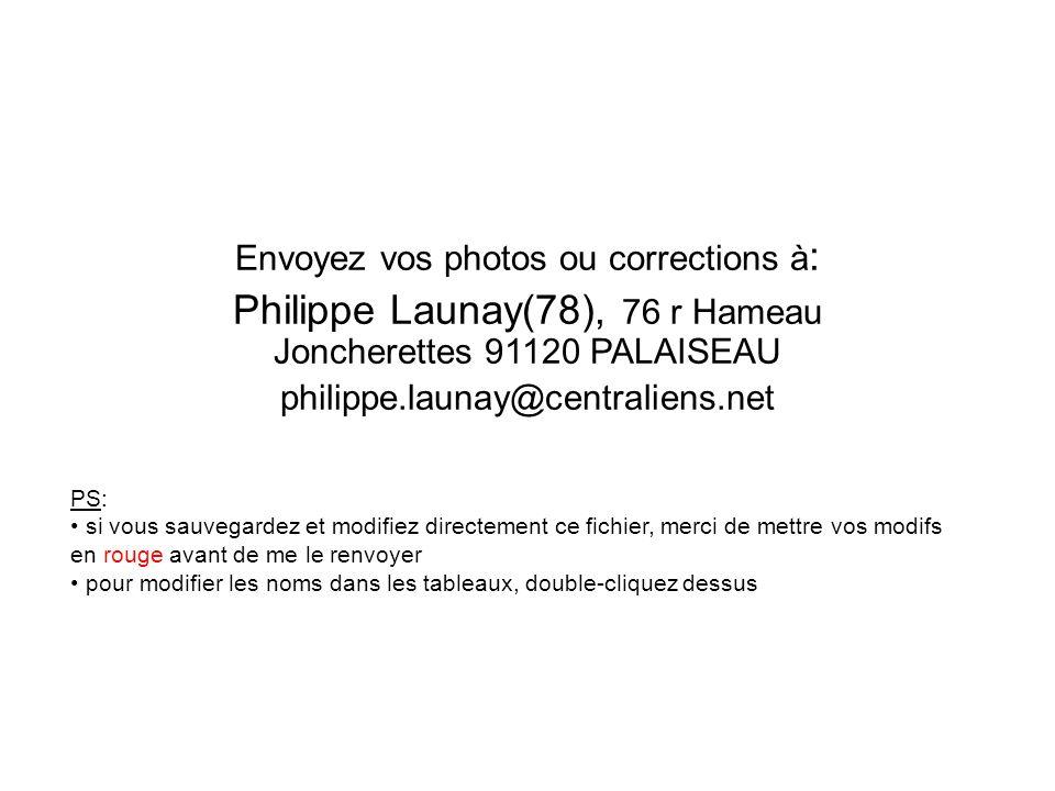 Philippe Launay(78), 76 r Hameau Joncherettes 91120 PALAISEAU
