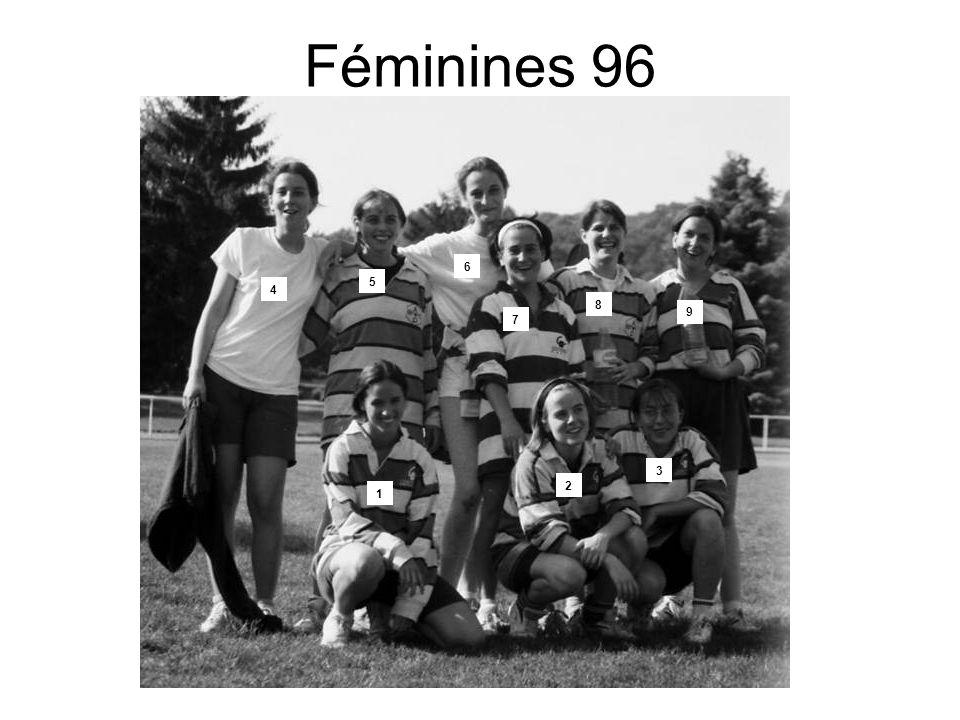 Féminines 96 6 5 4 8 9 7 3 2 1