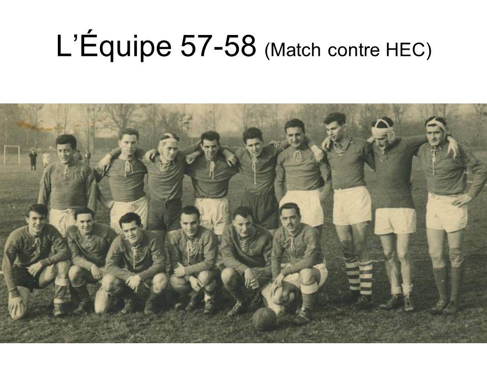 L'Équipe 57-58 (Match contre HEC)