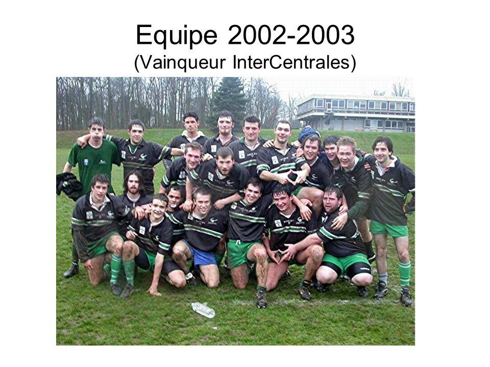 Equipe 2002-2003 (Vainqueur InterCentrales)