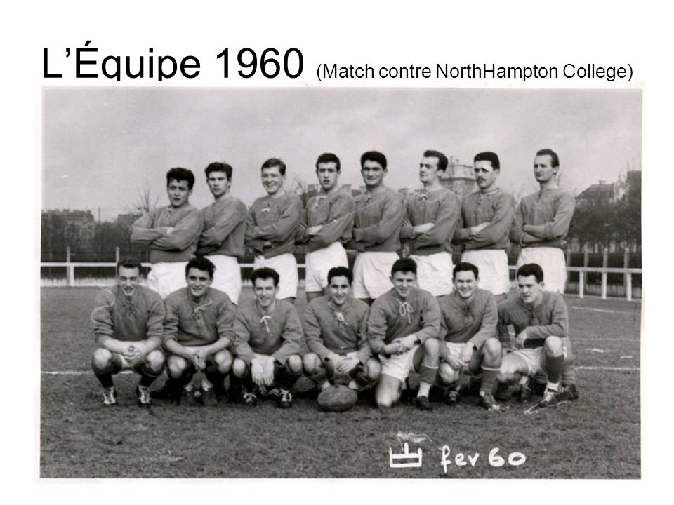 L'Équipe 1960 (Match contre NorthHampton College)