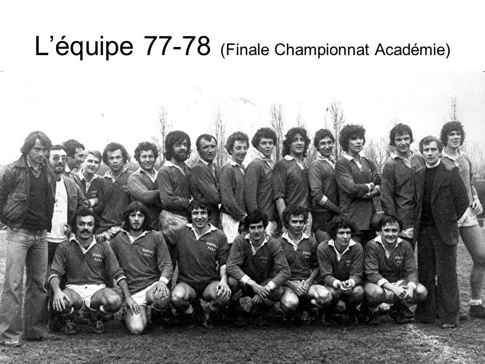 L'équipe 77-78 (Finale Championnat Académie)