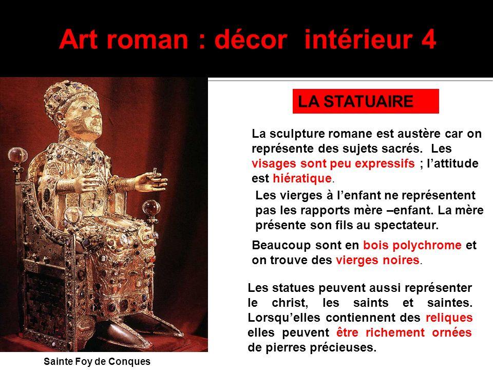 Art roman : décor intérieur 4