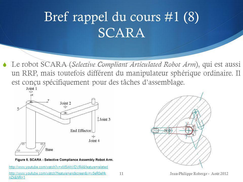 Bref rappel du cours #1 (8) SCARA