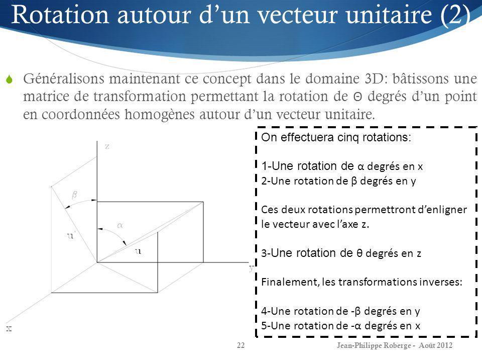 Rotation autour d'un vecteur unitaire (2)