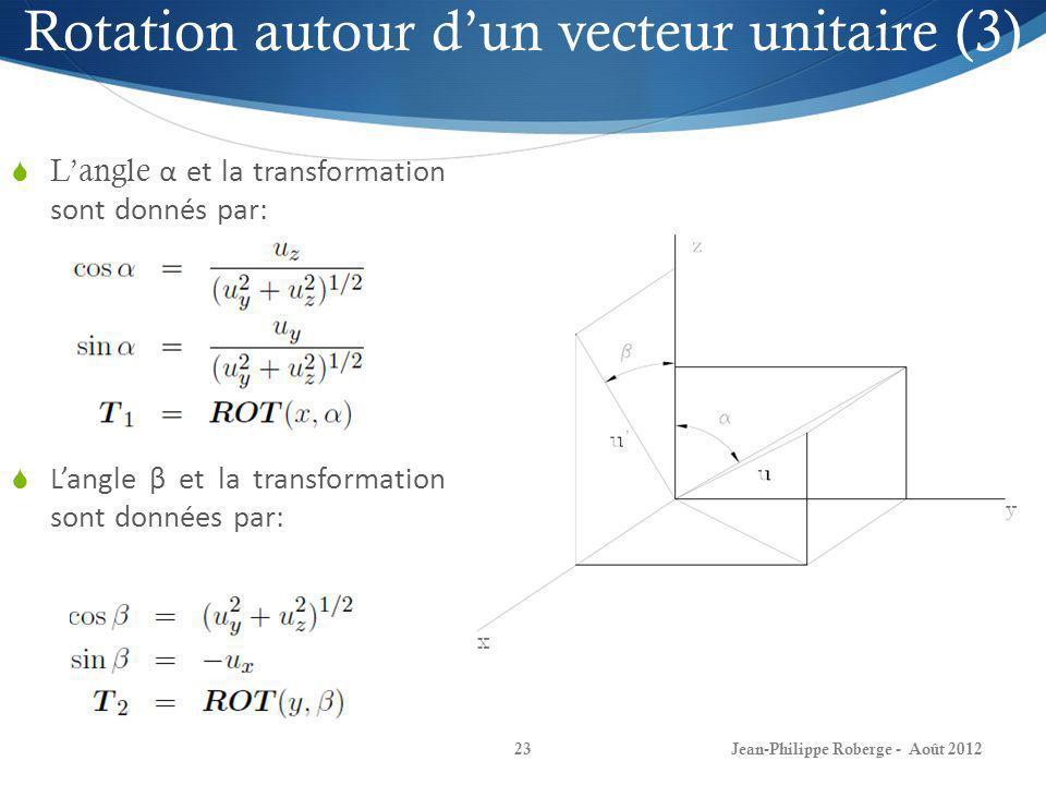 Rotation autour d'un vecteur unitaire (3)
