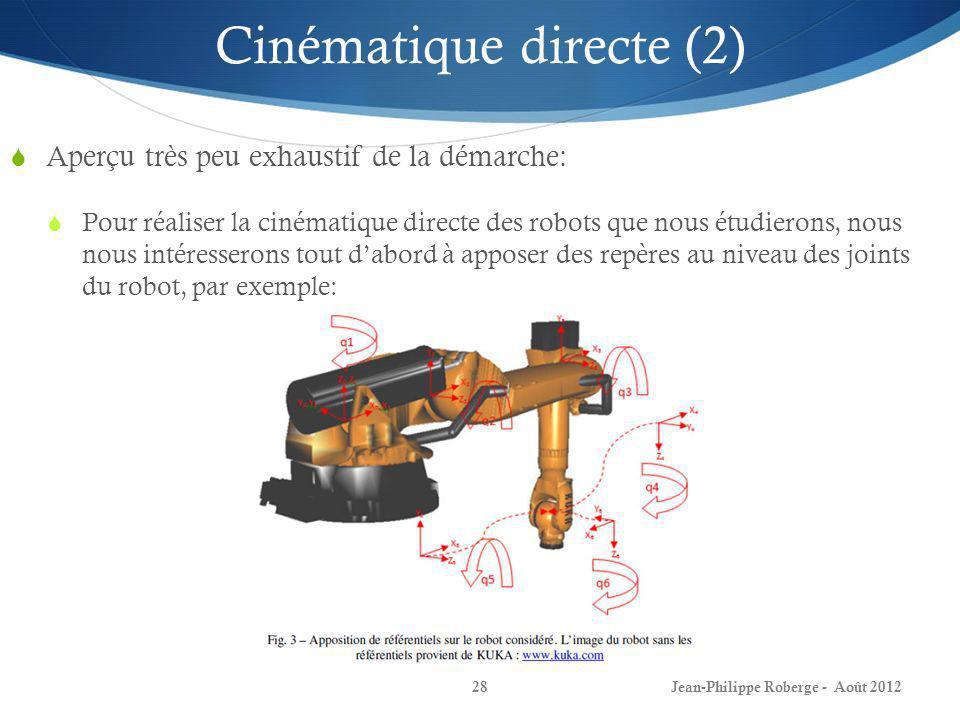 Cinématique directe (2)