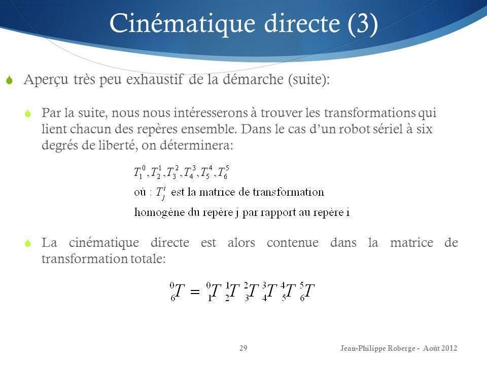 Cinématique directe (3)