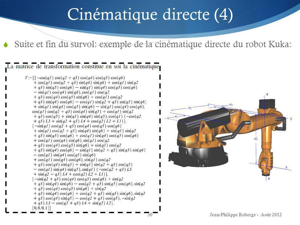 Cinématique directe (4)